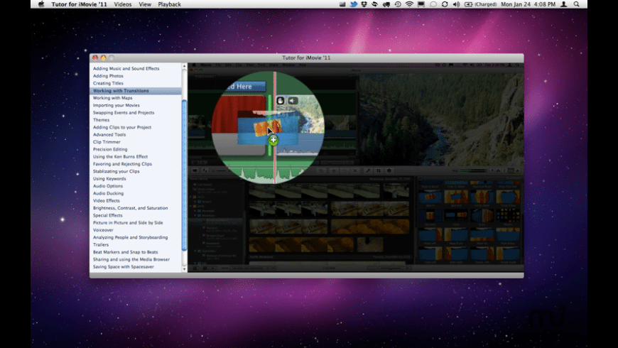 Tutor for iMovie '11 for Mac - review, screenshots