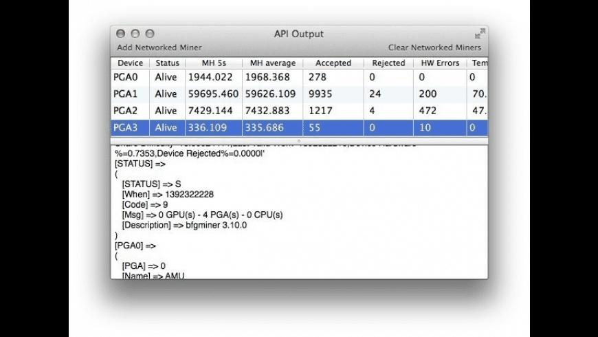 MacMiner for Mac - review, screenshots