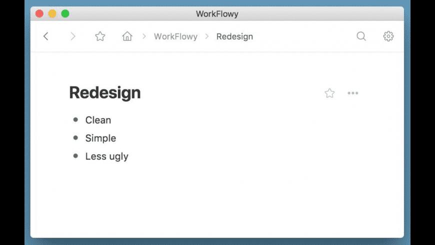 WorkFlowy for Mac - review, screenshots