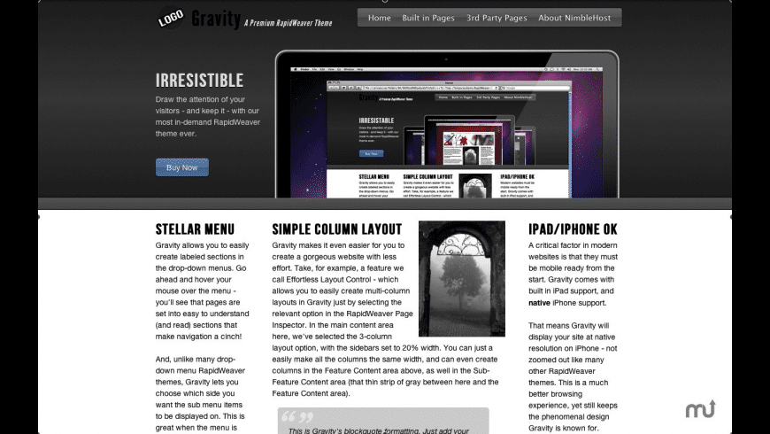 Gravity for Mac - review, screenshots