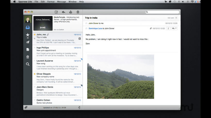 Sparrow Lite for Mac - review, screenshots