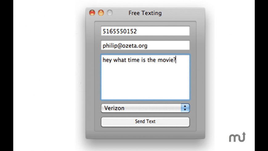 Free Texting for Mac - review, screenshots