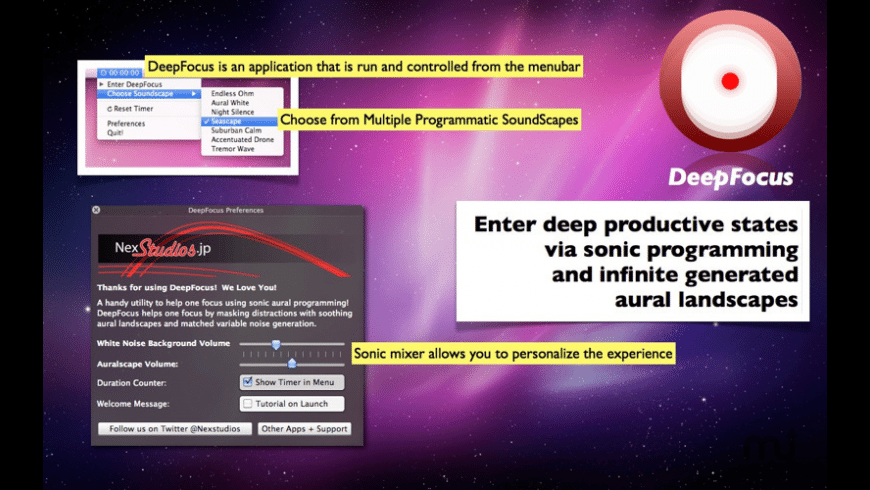 DeepFocus for Mac - review, screenshots