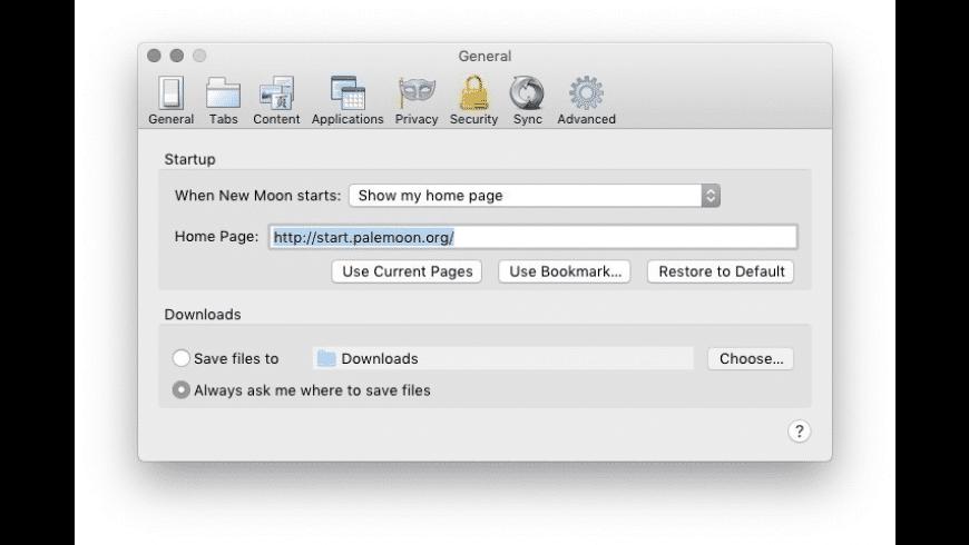 Pale Moon for Mac - review, screenshots