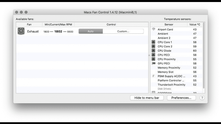 Macs Fan Control for Mac - review, screenshots