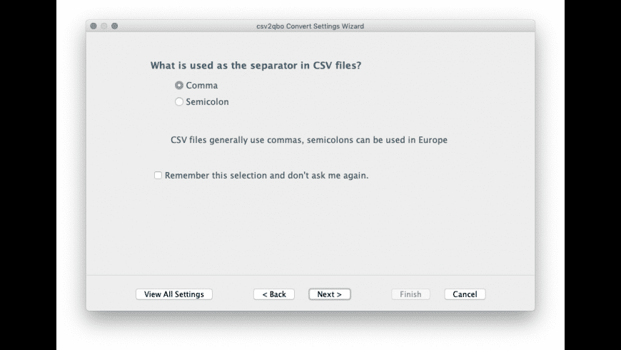csv2qbo Convert for Mac - review, screenshots