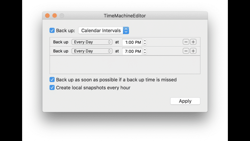 TimeMachineEditor for Mac - review, screenshots