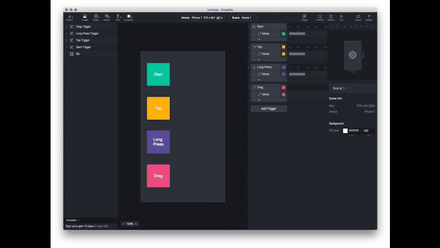 ProtoPie for Mac - review, screenshots