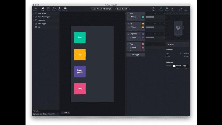 ProtoPie for Mac - review, screenshots
