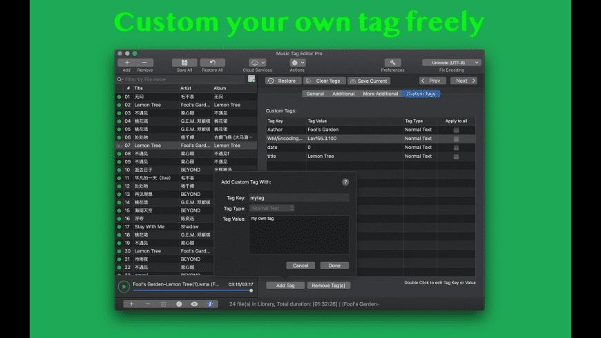 Music Tag Editor for Mac - review, screenshots