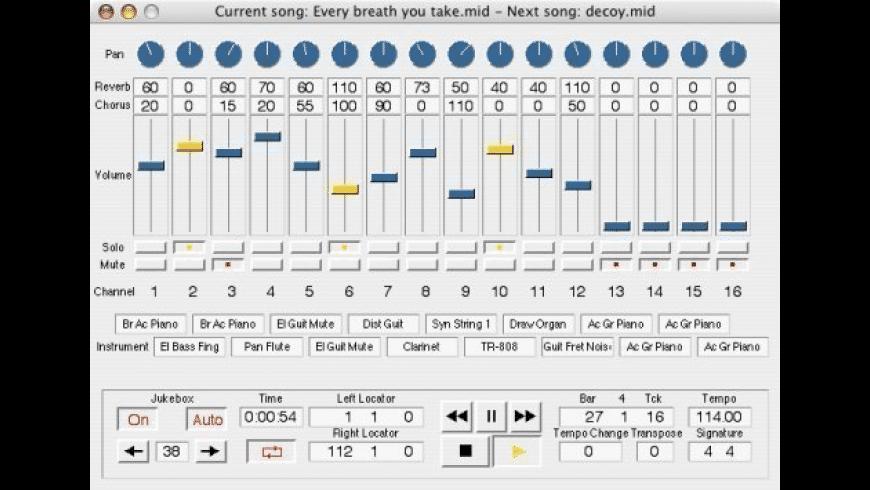 Sweet MIDI Player for Mac - review, screenshots