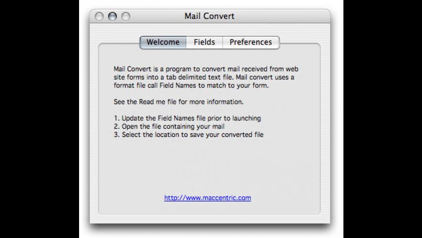 Mail Convert for Mac - review, screenshots