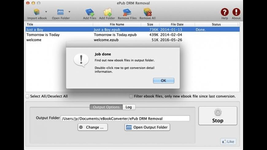 ePub DRM Removal for Mac - review, screenshots
