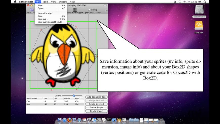 SpriteHelper for Mac - review, screenshots