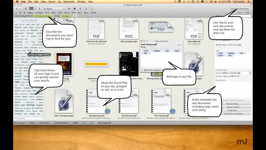 Yep for Mac - review, screenshots