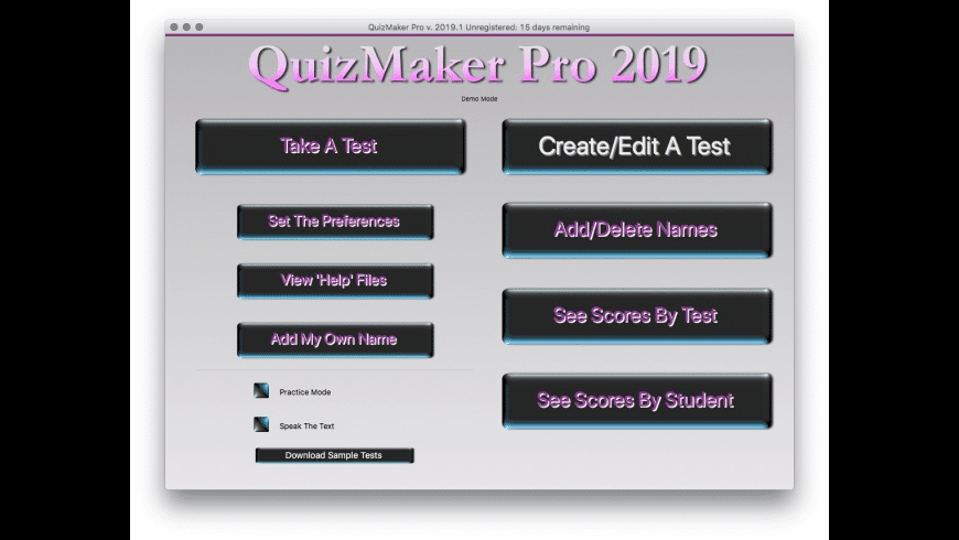 QuizMaker Pro for Mac - review, screenshots