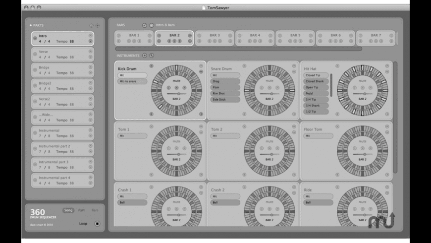 360 Drum Sequencer for Mac - review, screenshots