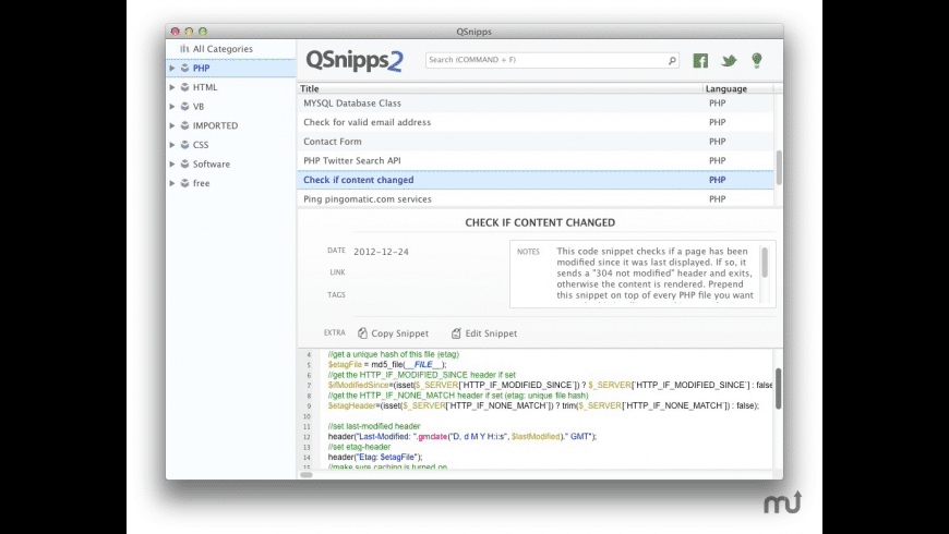 QSnipps for Mac - review, screenshots