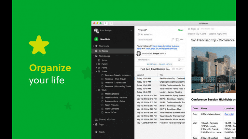 Evernote for Mac - review, screenshots