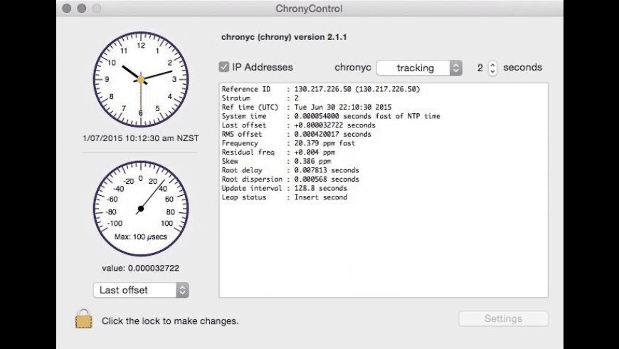 ChronyControl for Mac - review, screenshots