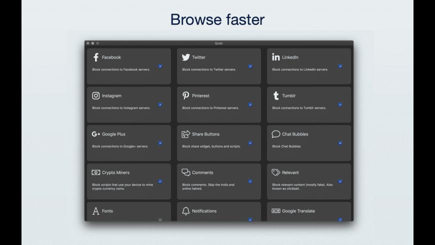 Quiet for Mac - review, screenshots