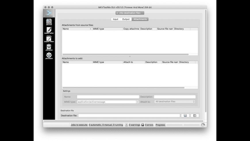 MKVToolNix for Mac - review, screenshots