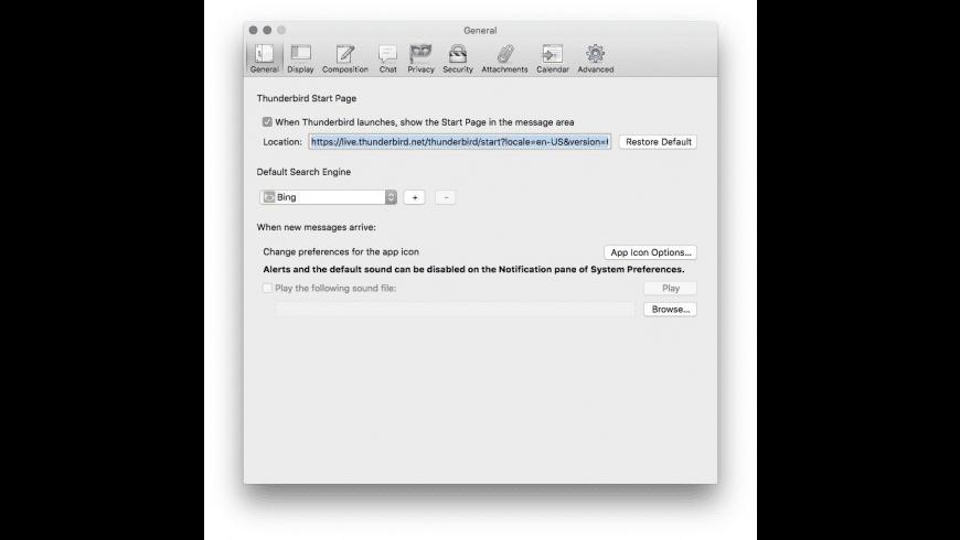 Mozilla Thunderbird For Mac Os