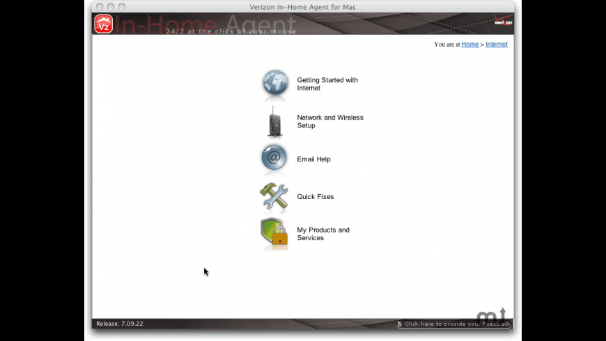 VerizonInHomeAgent for Mac - review, screenshots
