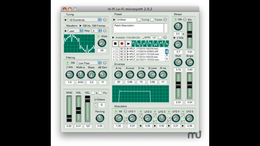 HPLF for Mac - review, screenshots