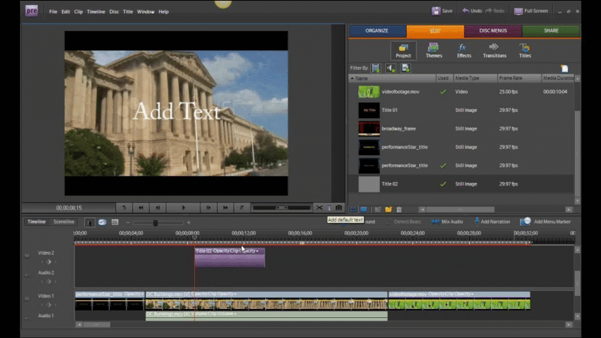 Adobe Premiere Elements for Mac - review, screenshots
