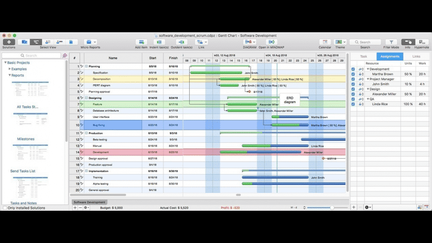 ConceptDraw Project for Mac - review, screenshots