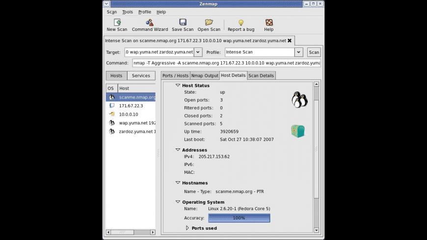 Zenmap for Mac - review, screenshots