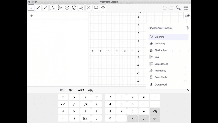 GeoGebra Classic for Mac - review, screenshots