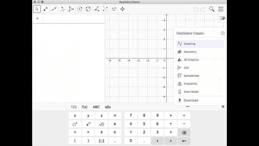 GeoGebra Classic for Mac - review, screenshots