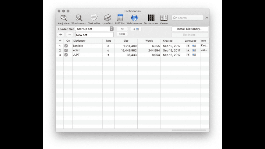JEDict for Mac - review, screenshots