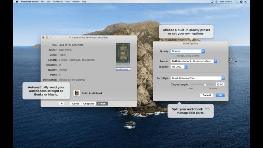 Audiobook Builder for Mac - review, screenshots