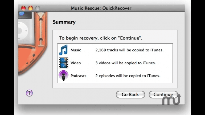 Music Rescue for Mac - review, screenshots
