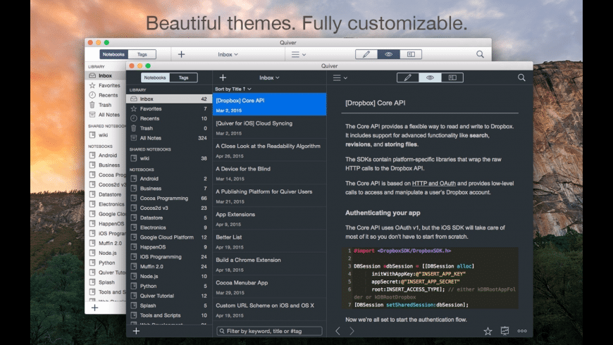 Quiver for Mac - review, screenshots