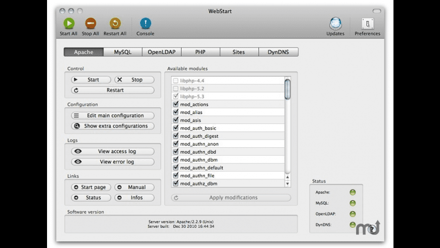 WebStart for Mac - review, screenshots