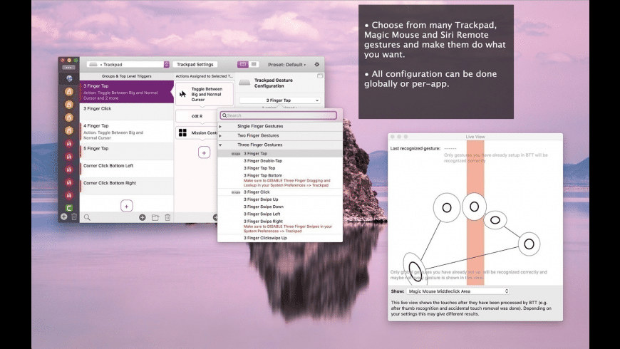 BetterTouchTool for Mac - review, screenshots