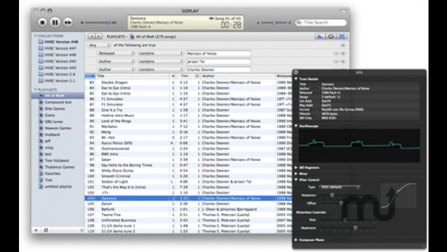 SIDPLAY for Mac - review, screenshots