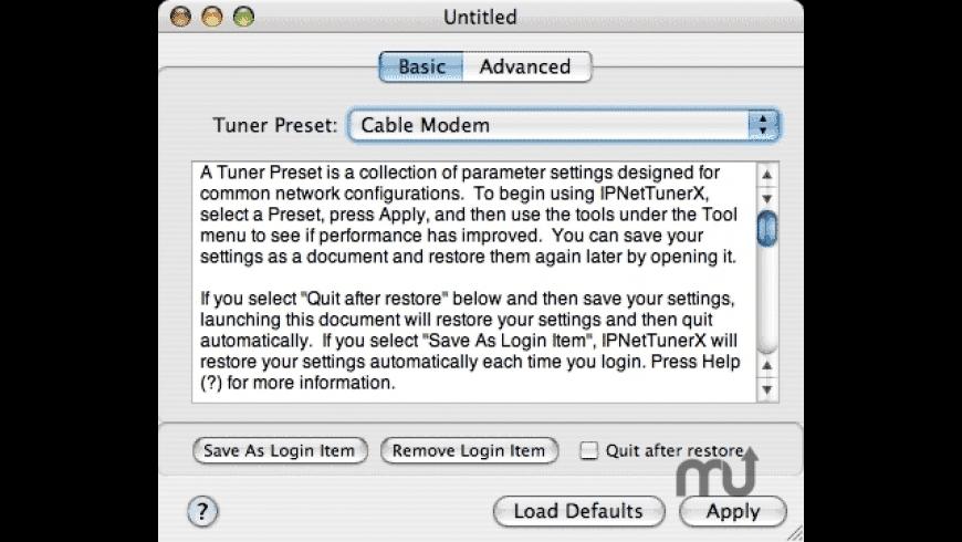 IPNetTunerX for Mac - review, screenshots