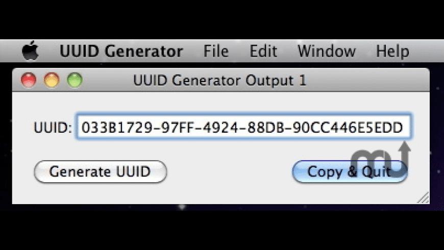 UUID Generator for Mac - review, screenshots