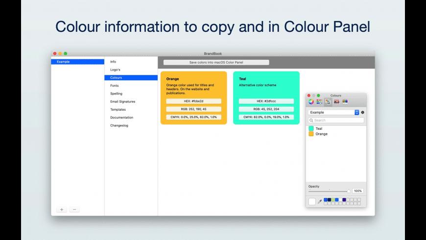 BrandBook for Mac - review, screenshots