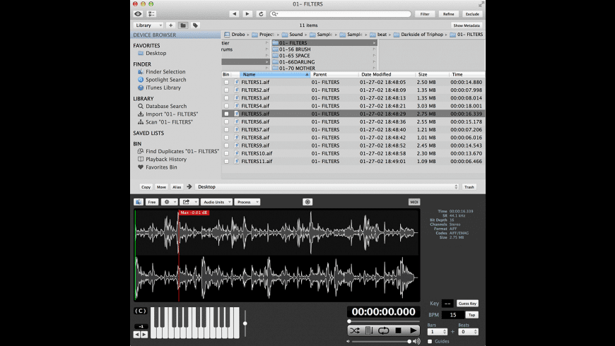 AudioFinder for Mac - review, screenshots