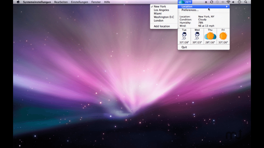 Weather Icon for Mac - review, screenshots
