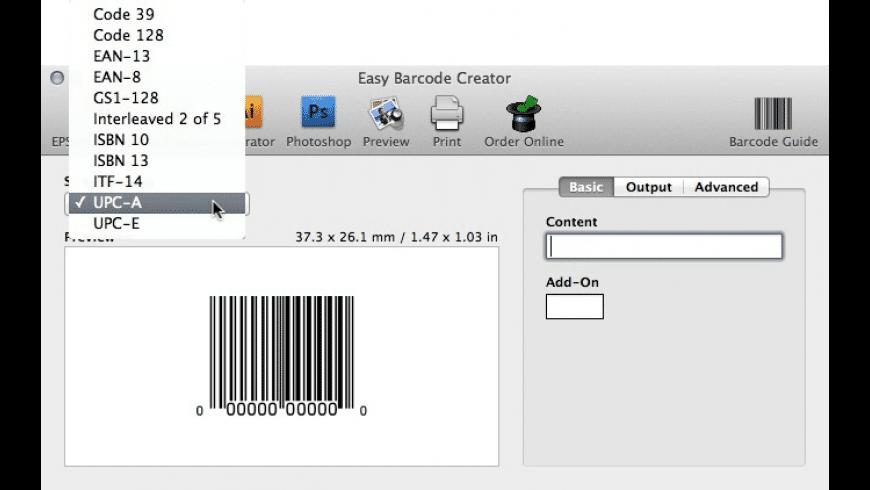 Easy Barcode Creator for Mac - review, screenshots