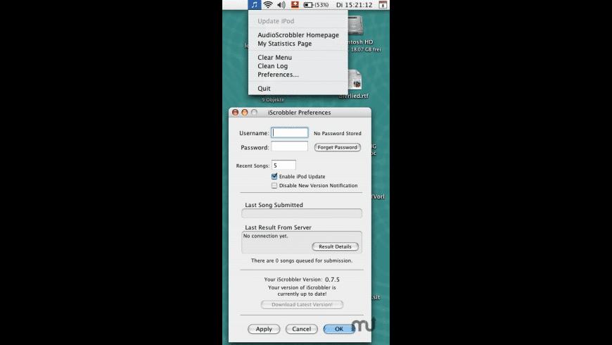 iScrobbler for Mac - review, screenshots