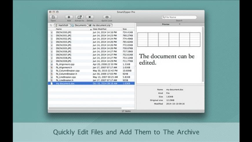 Smart Zipper Pro for Mac - review, screenshots