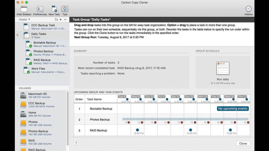 Carbon Copy Cloner for Mac - review, screenshots